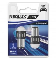 Neolux LED 12V 1,2W BAY15D NP2260CW duoblister 6000K jasná biela