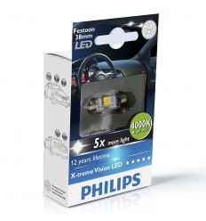 Philips X-treme Vision 128584000KX1 C5W LED 4000K 120° 38mm - 1ks