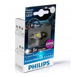 Philips X-treme Vision 129466000KX1 C10W LED 12V 6000K 43mm