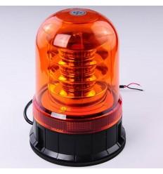maják LED magnetický 12V-24V oranžový 18LED*3W