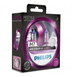Philips ColorVision Fialová H7 12V 55W 12972CVPPS2 - 2ks/balenie