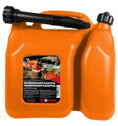kanister kombinovaný 6+2,5 l oranžový