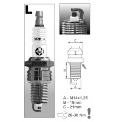 BRISK sviečka LR15YC-1