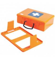 Kufrík plastový oranžový bez prepážok