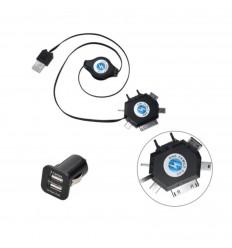 Nabíjačka USB kábel UNI vyťahovacia