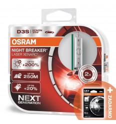 Osram Xenarc Night Breaker Laser D3S +200% 2ks/balenie