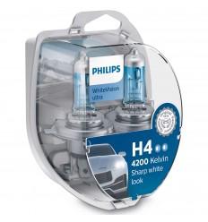 Philips H4 WhiteVision Ultra +60% 2ks/balenie + 2ks W5W