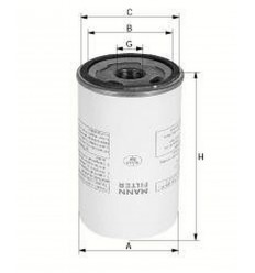 filter olejový mann LB 719/2