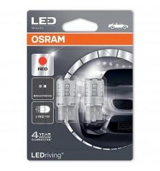 Osram 7705R-02B W3x16d Red W21W Standard LED 2ks-blister